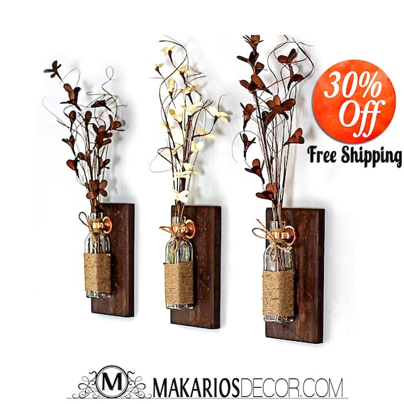 Rustic Wall Decor Rustic Candle Sconces Country Wall Decor Wood Wall Decor Wooden Sconce Wood Sconces Wall Art Rustic Wall Sconce