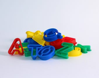 Plastic Letter Lowercase Alphabet Dough Cutters Kids Baking, Biscuit Making & Modelling Pack of 26