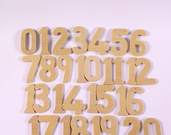 Large Wooden Numbers & Symbols Stencils for Kids Art Pack of 42 Drawing Templates