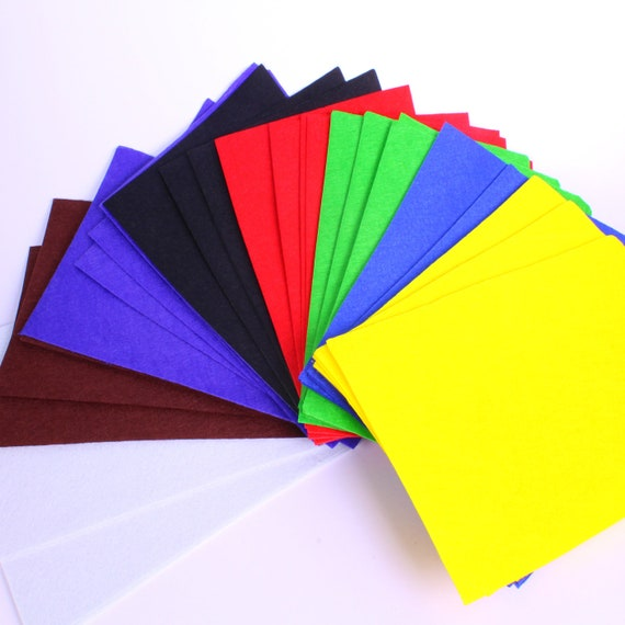 """Green Colour A4 Packs of 8 Sheets Craft Felt 9/""""x12/""""  2mm Thick"""