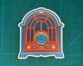 Cathedral Radio vinyl sticker