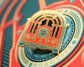 Cathedral Radio enamel pin