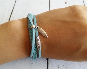 Braided suede bracelet