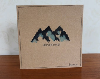 Encouragement cards etsy nz john 10 bible scripture verse faith encouragement watercolor blue mountains card brown minimalist card blank greeting card m4hsunfo