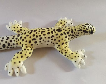 Leopard Gecko Plush / Realistic Markings / Wild Morph / Natural Morph
