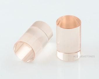 Morganite Quartz Stone 11x18 mm Cylinder Shape Gemstones -Gemstones For Jewelry Making- Wholesale Loose Morganite Quartz Gemstones -2Pcs