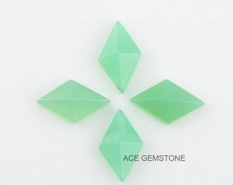 Wholesale Loose Gemstone-Chrysoprase Diamond Pyramid 10x16 mm Gemstone-Faceted Gemstone-Loose Gemstone for Jewelry-5Pcs