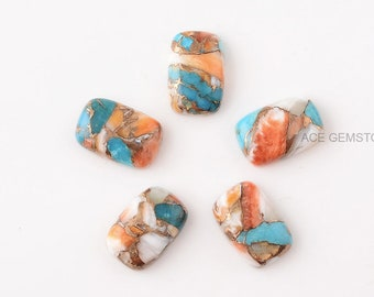 5 pcs //Set DIY Natural Stones Cone shape Colorful For Jewerly Making Findings