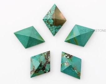 Amazonite 13x18 mm Pyramid Rectangle Gemstone-Calibrated Cabochons-Jewelry Making Gemstone-Wholesale Gemstones-Pair Cabochons 2 Pcs