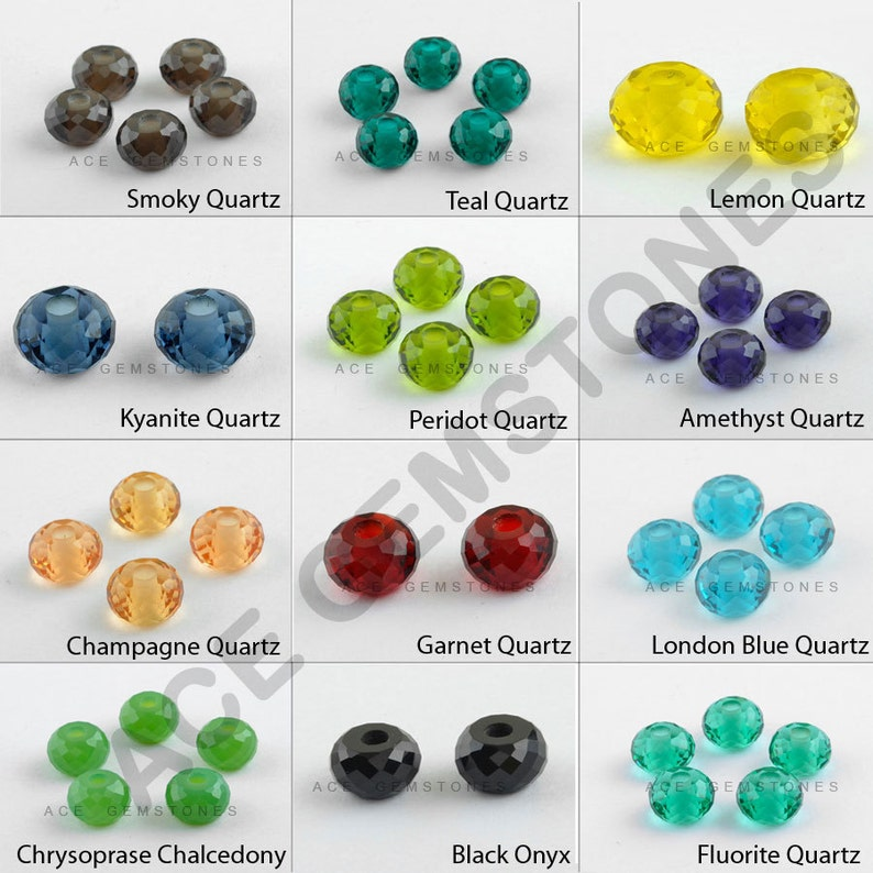 Big Hole Beads 5 Pcs. Pyrite Smooth Gemstone Rondelle European Style Large Hole Beads For Necklace and Bracelet