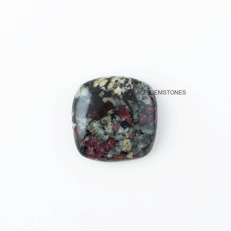 Wholesale Jewelry Gemstone 1 Pcs. Eudialyte Cabochon AAA Quality Natural Eudialyte Rounded Rectangle 24x24 mm Loose Cabochon Gemstone