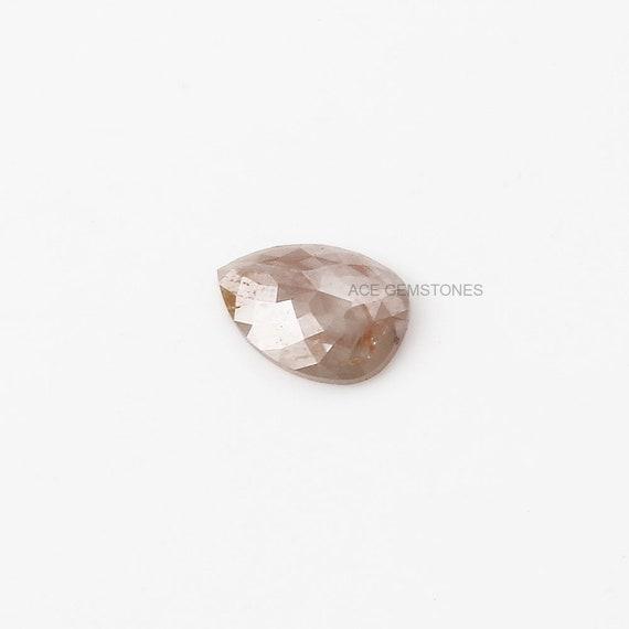 1,11 ct naturel vrac Rose Cut Diamond, 6.5x9 mm diamant poire, poire, diamant lâche Rose Cut Diamond, diamant de couleur fantaisie, diamants lâches, 1 PC db742e