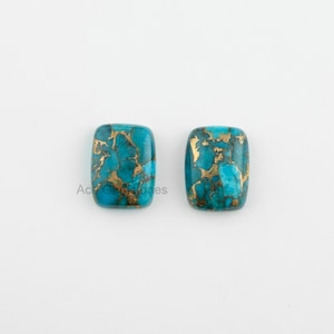 Details about  /Natural Green Copper Turquoise 12X16 mm Pear Cabochon Loose Gemstone AR01