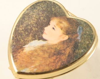Red Hair Girl Statement Ring Huge Ring Large Heart Ring Gold Adjustable Ring Irene Cahen d'Anvers 1880 by Renoir Reproduction Bohemian Ring