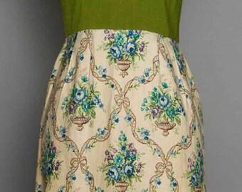 Vintage 1960s Sheath Linen Day Dress by Jacques Heim Paris