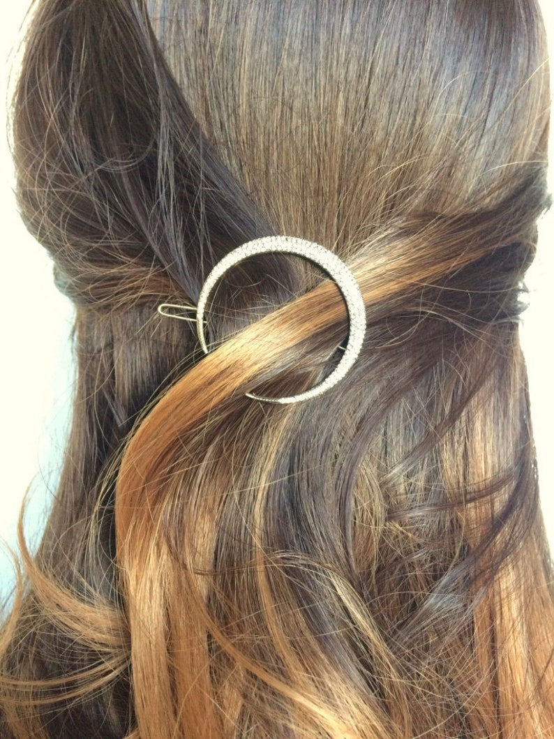Moon Hair Clip Set Celestial Hair Accessories Crescent Moon Headpiece Moon and Star Headpiece Star Bobby Pins Moon Hairclip Rustic Wedding