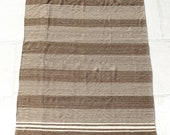1980 39 s Vintage Moroccan Throw Blanket, undyed virgin wool - Jessine - 175x300cm