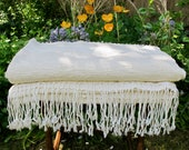 Luxury Bath Towel Hand Woven in Morocco with Berber Wool and Egyptian Cotton - Cream - 180 x 95cm Bathroom, Interior