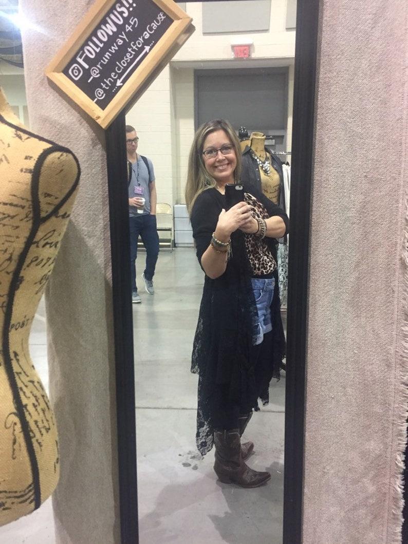 Boho chic lace waterfall cardigan with handkerchief hemline