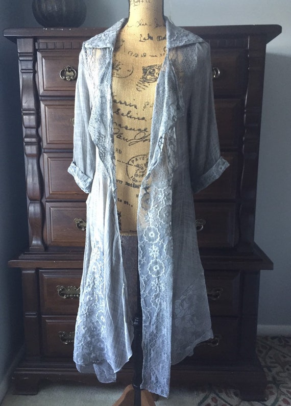 Small lace duster, Gray, Stevie Nicks style