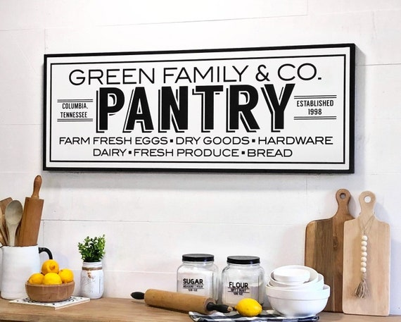 Pantry Sign Personalized Kitchen Signs Pantry Pantry Signs Farmhouse Kitchen Sign Personalized Kitchen Decor Kitchen Sign Custom Sign
