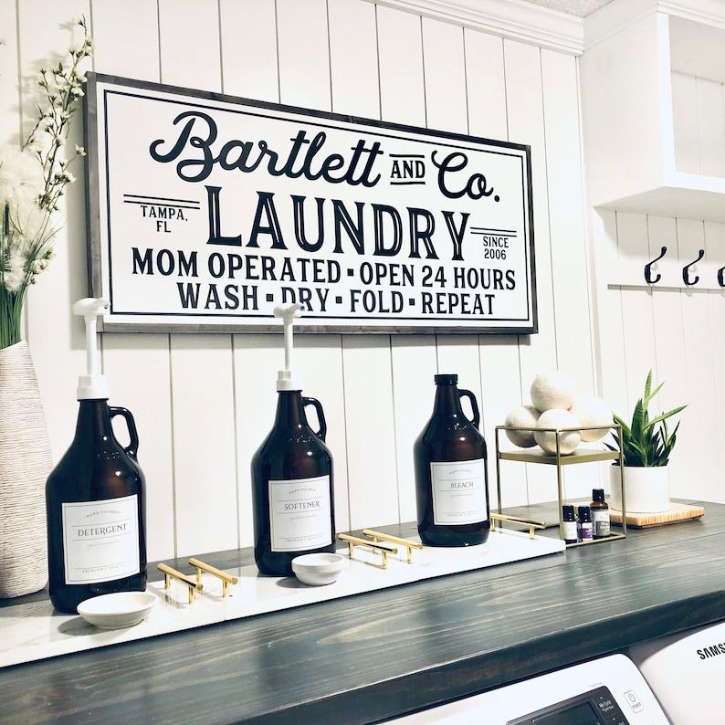 Laundry Room Sign Laundry Sign Laundry Room Decor Custom image 0