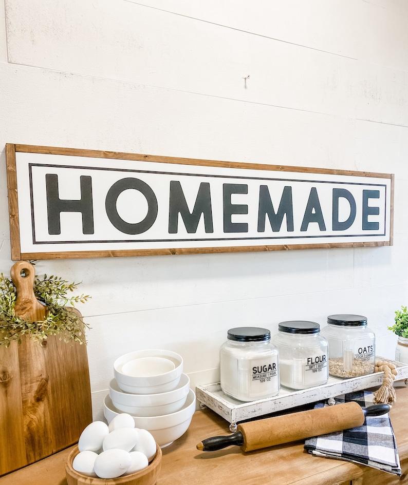 Homemade Large Kitchen Sign Farmhouse Kitchen Sign Custom Kitchen Sign Homemade Sign Farmhouse Kitchen Wall Decor Kitchen Sign