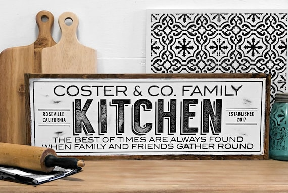 Personalized Kitchen Signs Custom Kitchen Sign Personalized Family Sign Farmhouse Kitchen Sign Personalized Kitchen Decor Kitchen Sign