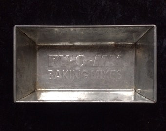 VINTAGE Tin Bread Baking Pan by PY O MY Baking Mix Company