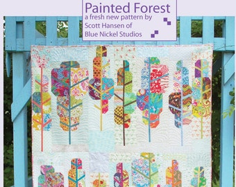 Painted Forest - An Urban Folk Pattern from Blue Nickel Studios - PDF Download