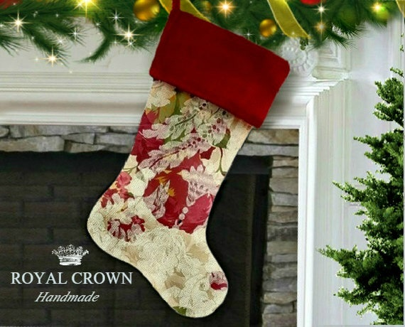 Custom Christmas Stockings.Christmas Stocking With Red Cuff Custom Christmas Stockings Christmas Stocking Stuffers Etsy Christmas Stockings By Royalcrownhandmade