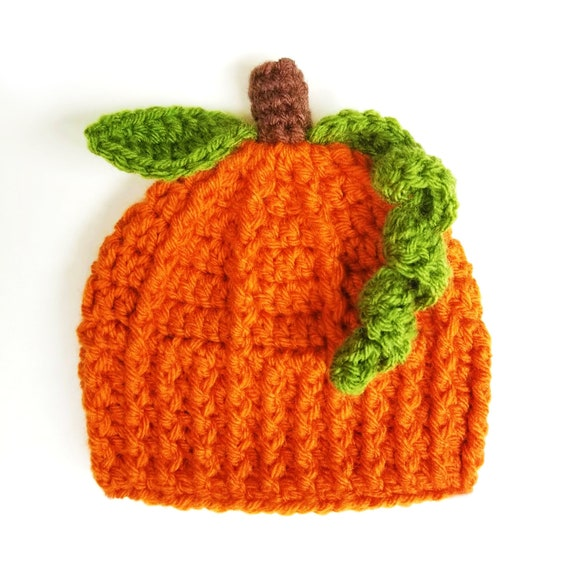 Pumpkin Hat Halloween Fall Holiday Preemie Baby Infant Toddler Child/'s Teen Adult Knitted Winter Hat