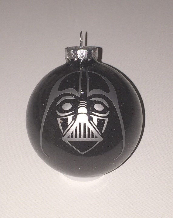 image 0 - Star Wars Inspired Darth Vader Christmas Glitter Ornament Etsy