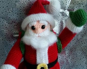 Häkeln Sie Santa, häkeln Santa, Weihnachtsmann Dekoration, häkeln Dekoration, Weihnachtsdekoration, häkeln Weihnachtsschmuck, Santa Figur