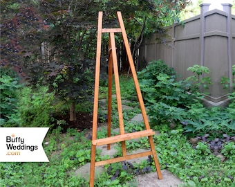 Heavyweight Natural Easel Holds 30lbs 5ft Solid Wood Wedding Etsy