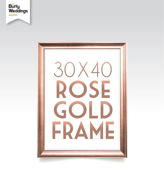 30 x 40 ROSE GOLD FRAME . Solid Maple Wood in Gold Wedding | Etsy