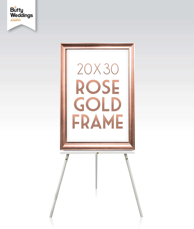 20 x 30 ROSE GOLDRAHMEN. Massivem Ahorn Holz Hochzeit Zeichen | Etsy