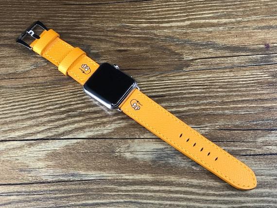 Apple Watch Band, Apple Watch 42mm, Apple Watch 38mm, Leather Watch Band, Epsom leather Jaune, iwatch 38mm, FREE SHIPPING