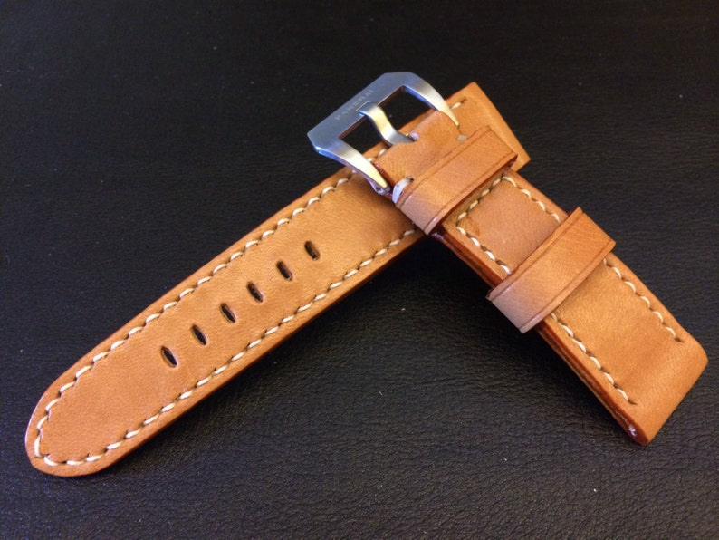 FREE SHIPPING Leather Watch Band 26mm Watch band 24mm image 0