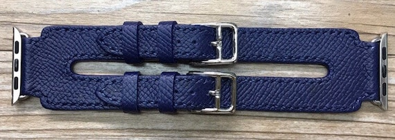 Apple Watch Band | Apple Watch Strap | Double Buckle Cuff Watch Band | Bleu Agate Double Buckle Cuff For Apple Watch 38mm & 42mm