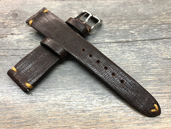 Dark Brown Watch Strap, Leather watch strap for men, Watch Strap 20mm, 19mm Leather Watch Strap, Leather Watch Band, New Year gift for him
