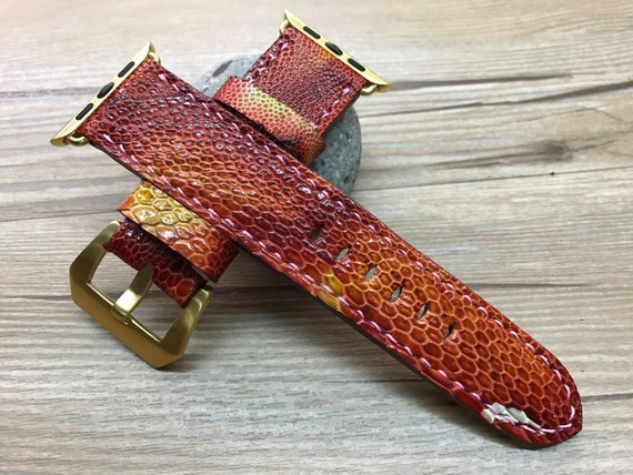 Apple Watch Band, Apple Watch Strap, leather watch band, Chili red leather watch Strap, Apple Watch 38mm, Apple Watch 42mm, iwatch