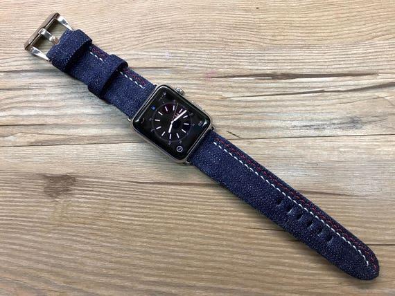 Apple Watch Band, Apple Watch 42mm, Apple Watch Strap, Denim Watch Band, Blue, Apple Watch 38mm, FREE SHIPPING, iwatch band, iwatch 38mm