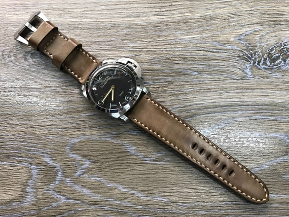Leather watch band, leather watch strap, Brown Watch band, 26mm watch band, 26mm watch strap, 24mm strap, watch band, FREE SHIPPING