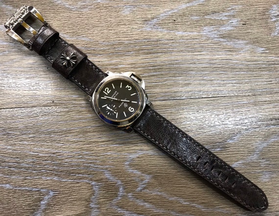 Distress Brown watch band, Leather watch strap 24mm, leather watch band, 24mm watch band, watch strap 24mm, watch band 26mm, watch band