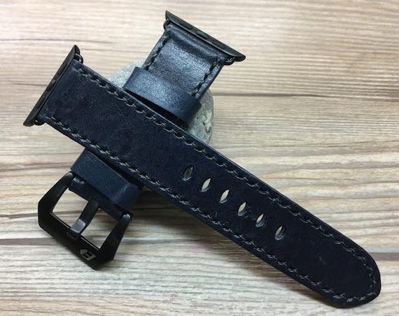 Apple Watch Strap | Apple Watch Band | Apple Leather Watch Band | Dark Blue Apple Watch Strap For Apple Watch 38mm & 42mm
