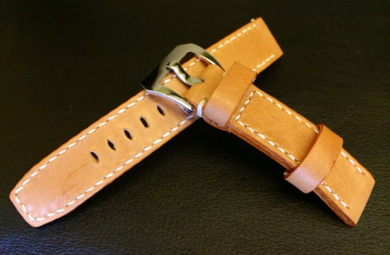 Leather watch Strap, leather watch band, khaki watch band, 20mm watch band, 20mm strap, 19mm watch strap, 20mm buckle, FREE SHIPPING