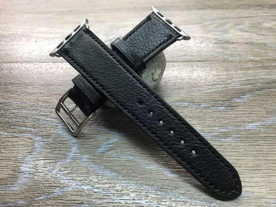 Apple Watch Band, Apple Watch 40mm, Leather Watch Band, Apple Watch 44mm, Apple Watch Strap, Black, iwatch 38mm, FREE SHIPPING