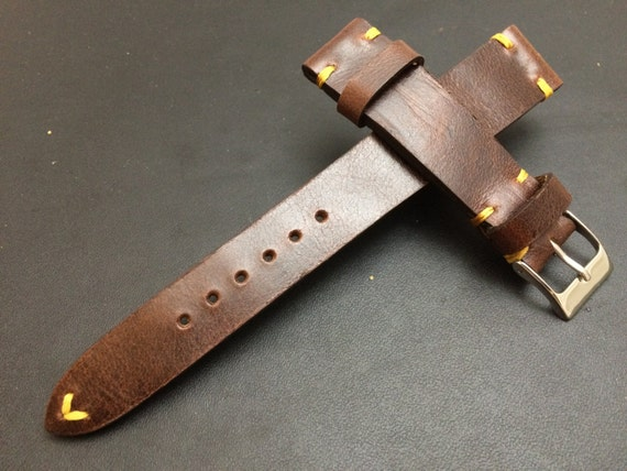 Leather Watch band, leather Watch strap, 20mm watch band, 20mm strap, Brown, strap replacement, Watch strap, 19mm Watch band, FREE SHIPPING