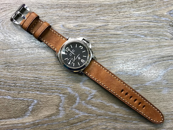 Leather watch band, leather watch strap, 24mm watch band, Brown watch band, 24mm watch strap, 26mm strap, watch band, FREE SHIPPING